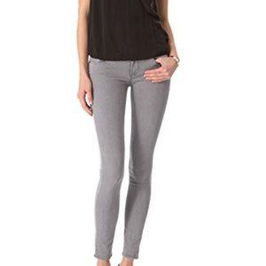 Paige gray denim skinny jeans